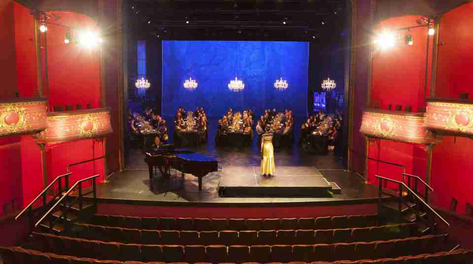 BE The Opera House Seated dinner stage guests speaker