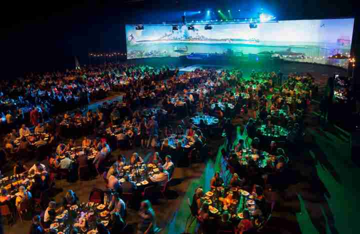 TSB Arena House of Travel dinner