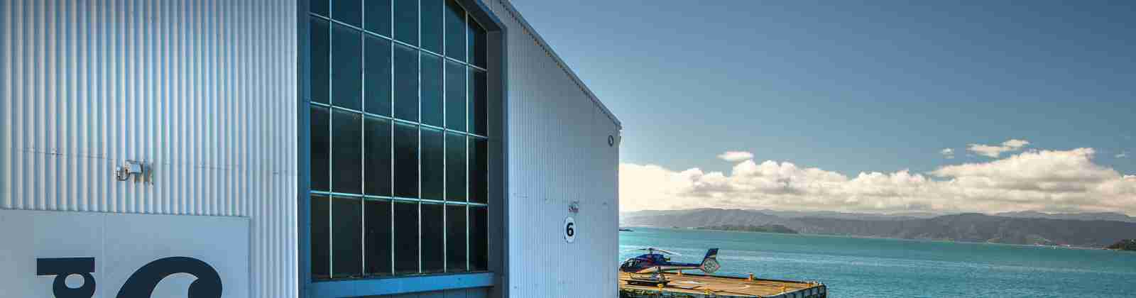 Shed 6 exterior looking out to Wellignton Harbour images Andy Spain